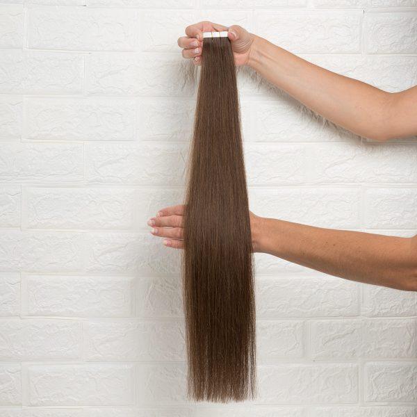 Hair Extensions Tape Ίσια 60 εκατοστά Καστανό