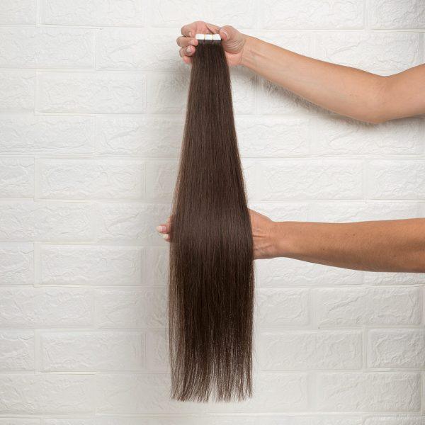 Hair Extensions Tape Ίσια 60 εκατοστά Καστανό Φυσικό
