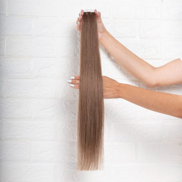 Hair Extensions Tape Ίσια 60 εκατοστά Καστανό Φυσικό Πολύ Ανοιχτό