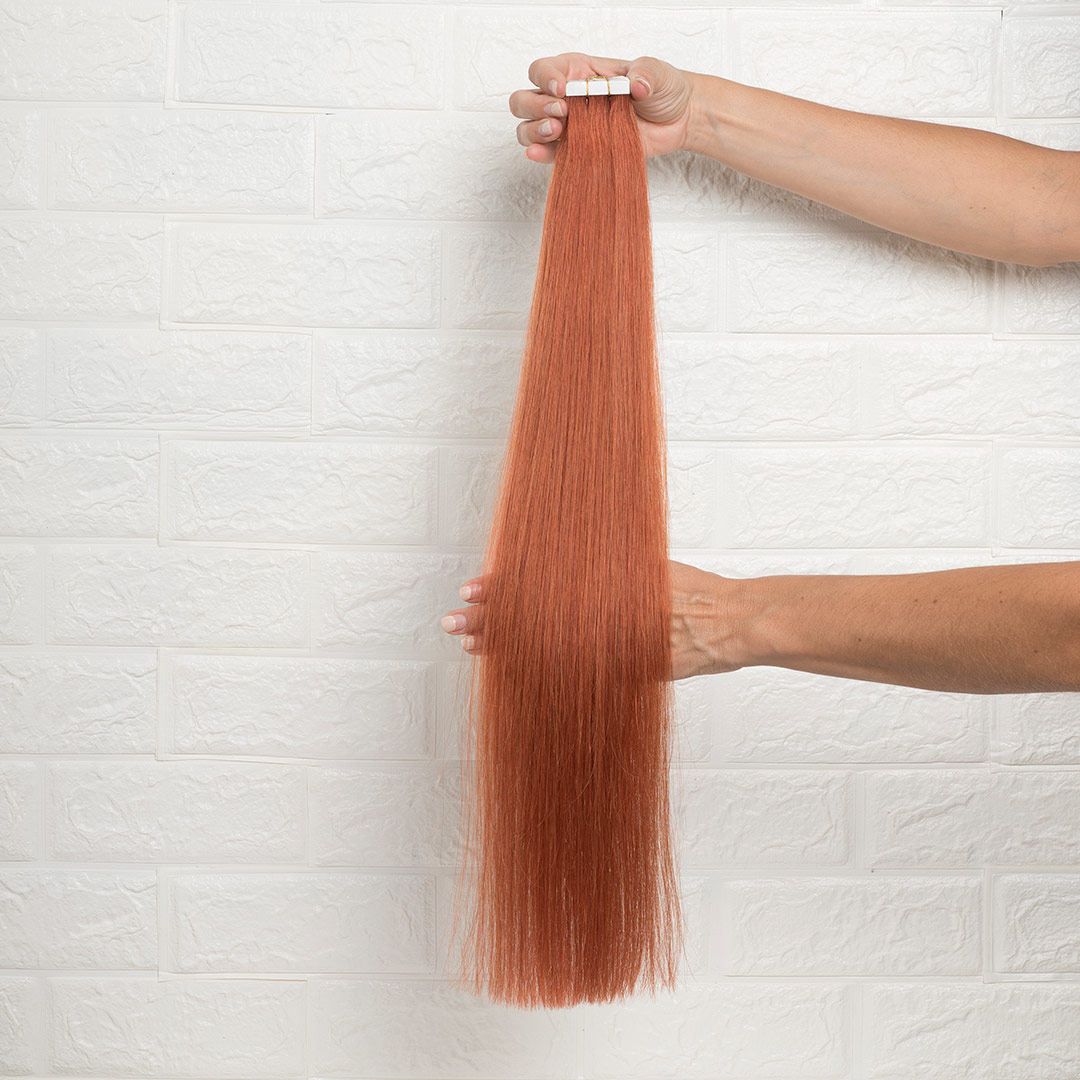 Hair Extensions Tape Ίσια 60 εκατοστά Χάλκινο Κόκκινο