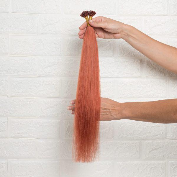 Hair Extensions U-Tip Ίσια 55 εκατοστά Χάλκινο Κόκκινο