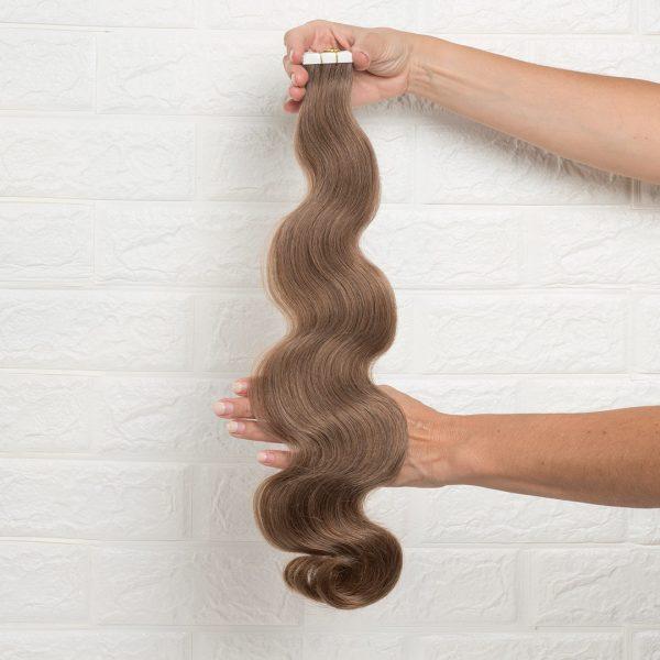 Hair Extensions Tape Σπαστά 60 εκατοστά Καστανό Φυσικό Πολύ Ανοιχτό