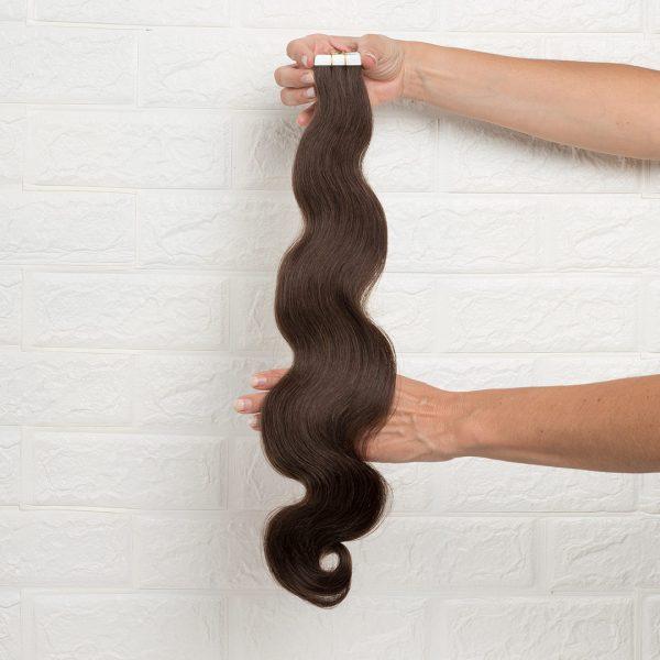 Hair Extensions Tape Σπαστά 60 εκατοστά Καστανό Φυσικό Σκούρο