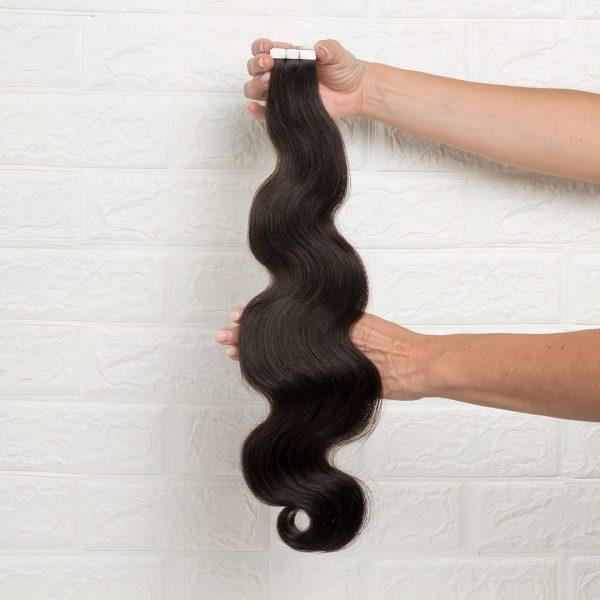 Hair Extensions Tape Σπαστά 60 εκατοστά Καστανό Σκούρο