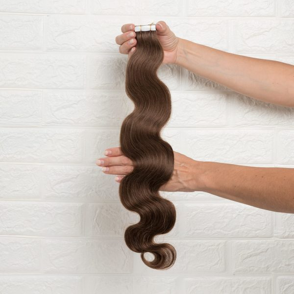 Hair Extensions Tape Σπαστά 60 εκατοστά Καστανό Ζεστό