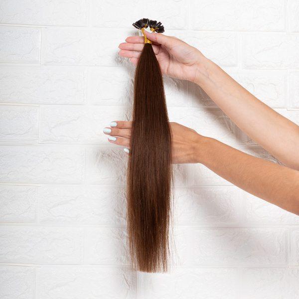 Hair Extensions U-Tip Ίσια 50 εκατοστά Καστανό