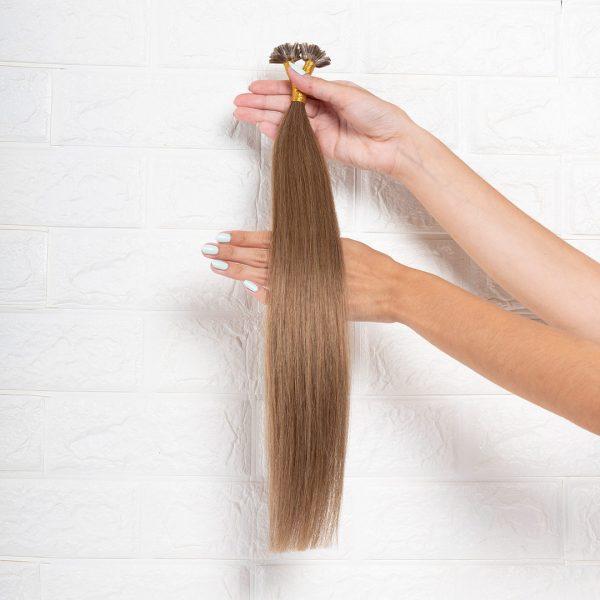 Hair Extensions U-Tip Ίσια 50 εκατοστά Καστανό Φυσικό Πολύ Ανοιχτό
