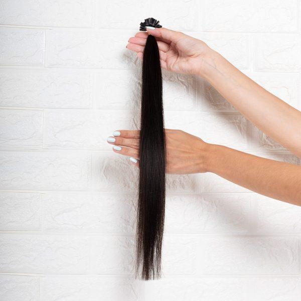 Hair Extensions U-Tip Ίσια 50 εκατοστά Καστανό Πολύ Σκούρο