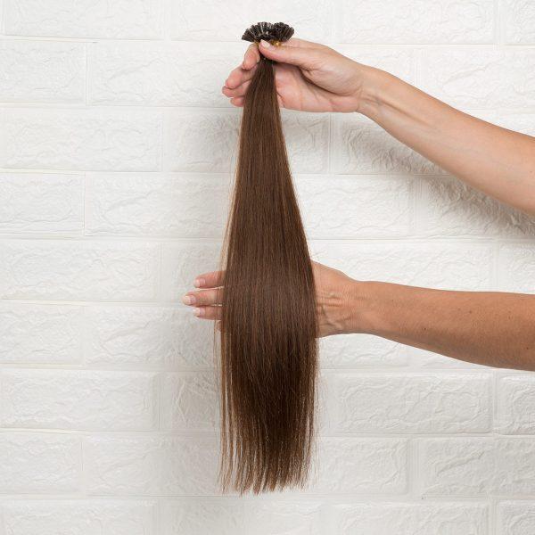Hair Extensions U-Tip Ίσια 50 εκατοστά Καστανό Ζεστό