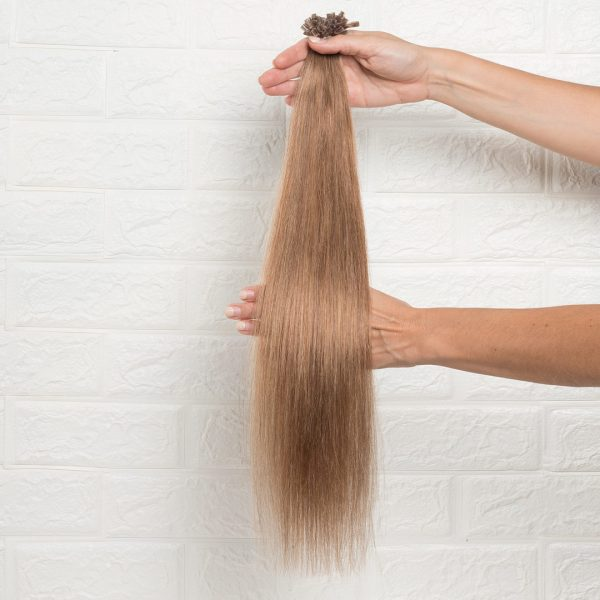 Hair Extensions U-Tip Ίσια 50 εκατοστά Ξανθό Μελί