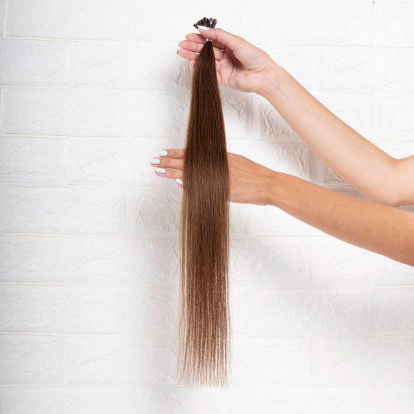 Hair Extensions U-Tip Ίσια 55 εκατοστά Καστανό