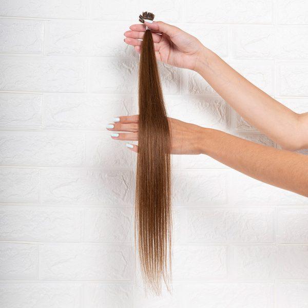 Hair Extensions U-Tip Ίσια 55 εκατοστά Καστανό Φυσικό Ανοιχτό