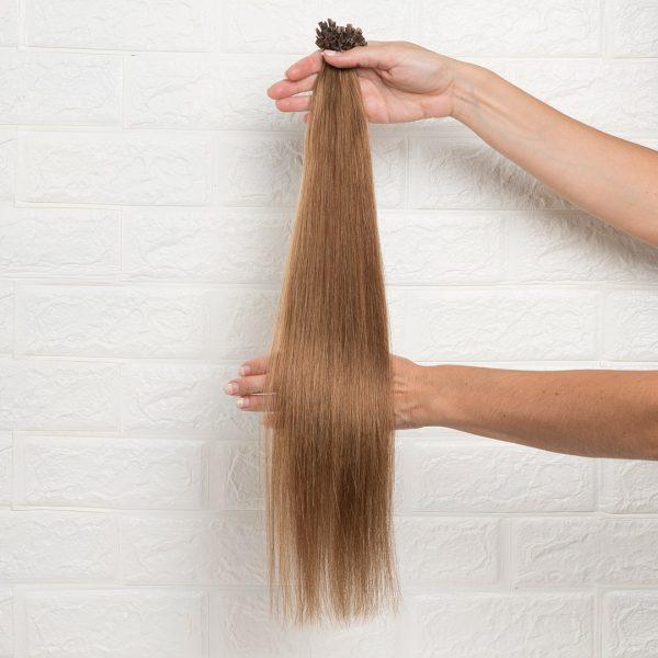 Hair Extensions U-Tip Ίσια 55 εκατοστά Καστανό Φυσικό Πολύ Ανοιχτό