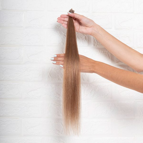 Hair Extensions U-Tip Ίσια 55 εκατοστά Ξανθό Μελί