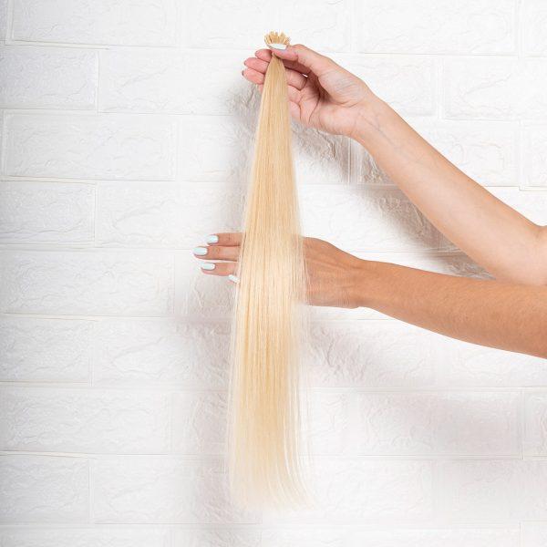 Hair Extensions U-Tip Ίσια 55 εκατοστά Ξανθό Πλατινέ