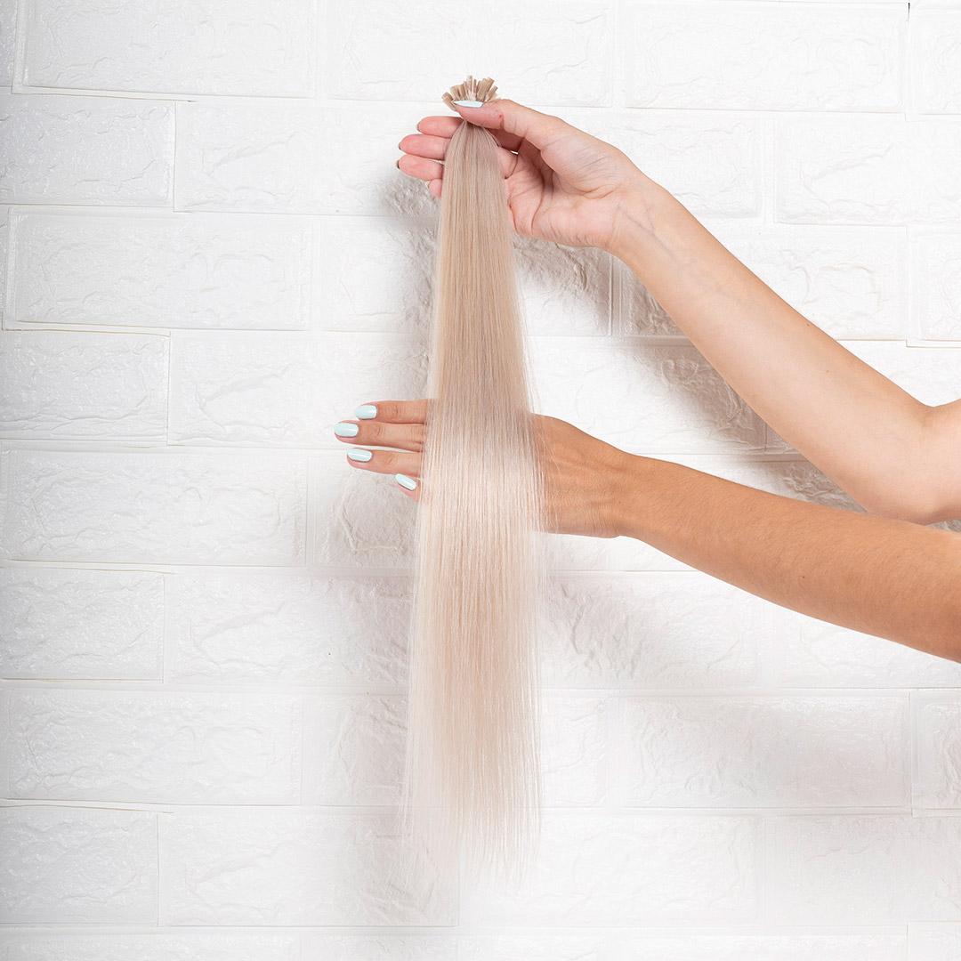 Hair Extensions U-Tip Ίσια 55 εκατοστά Ξανθό Πολύ Ανοιχτό Ψυχρό