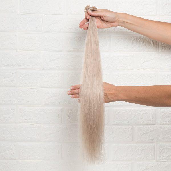 Hair Extensions U-Tip Ίσια 60 εκατοστά Γκρι