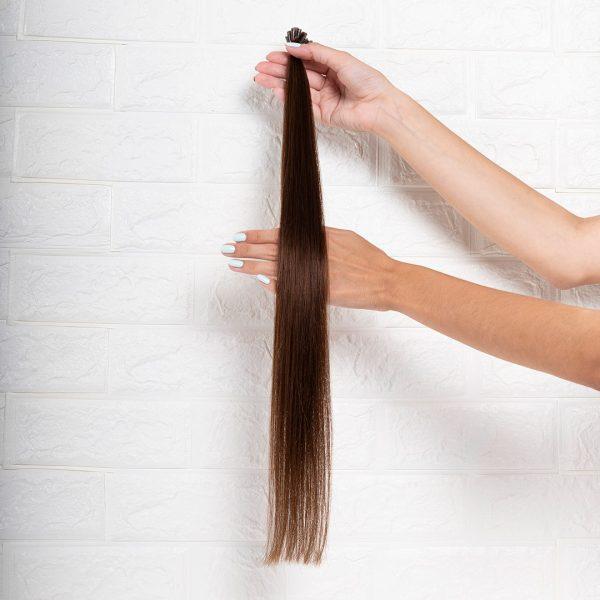 Hair Extensions U-Tip Ίσια 60 εκατοστά Καστανό