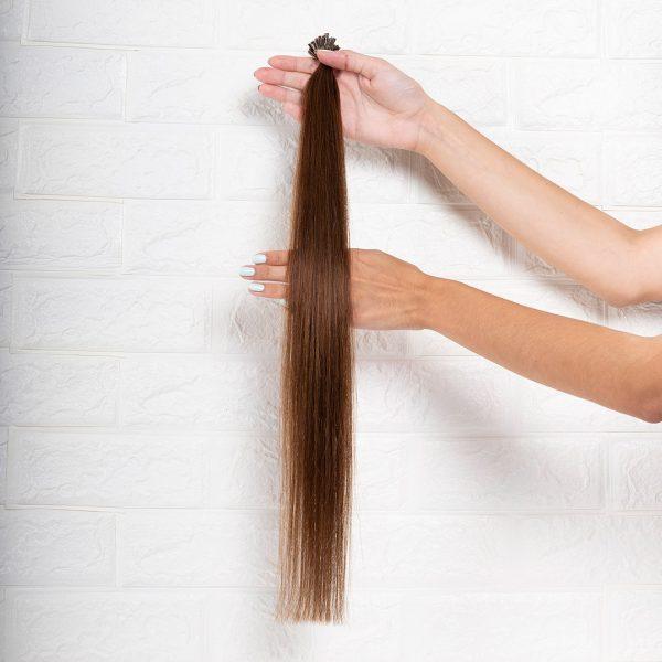 Hair Extensions U-Tip Ίσια 60 εκατοστά Καστανό Ανοιχτό