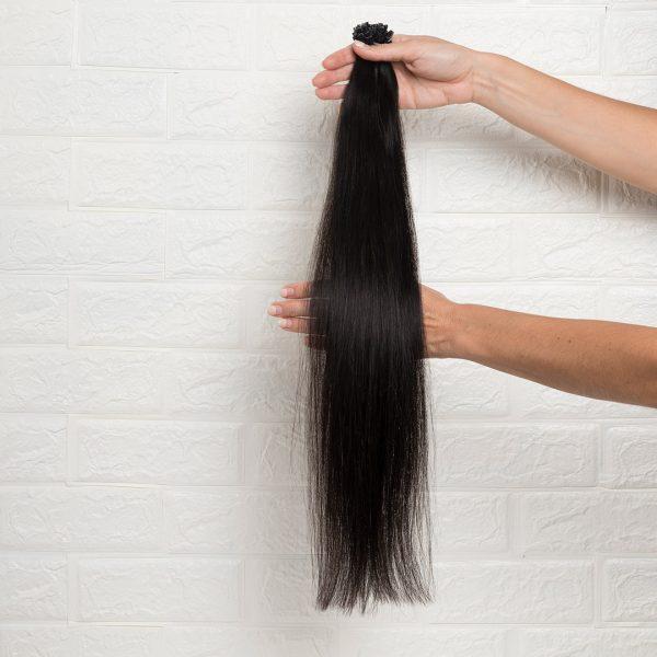 Hair Extensions U-Tip Ίσια 60 εκατοστά Καστανό Πολύ Σκούρο