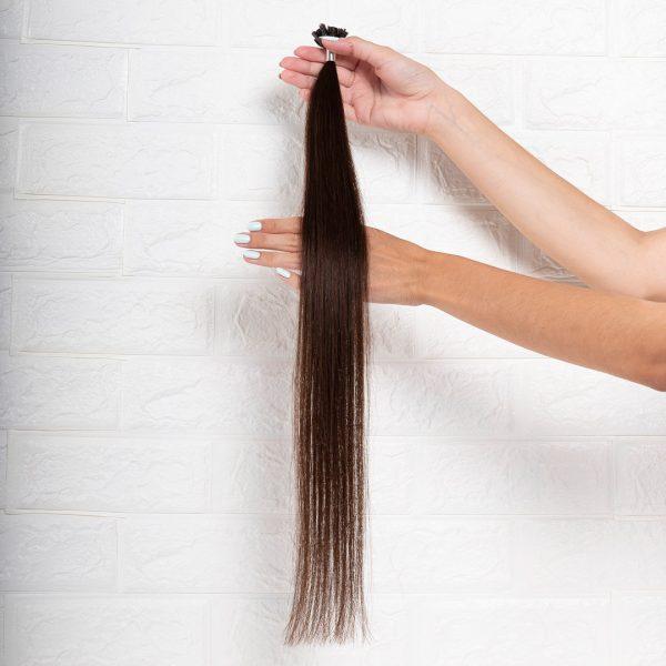 Hair Extensions U-Tip Ίσια 60 εκατοστά Καστανό Σκούρο