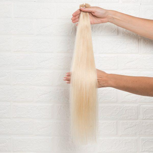 Hair Extensions U-Tip Ίσια 60 εκατοστά Ξανθό Πολύ Ανοιχτό
