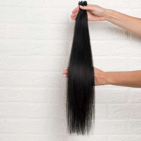 Hair Extensions U-Tip Ίσια 60 εκατοστά Μαύρο